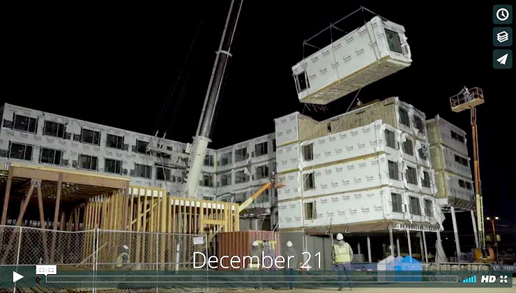 Crane Set of OKC AC Hotel  TIME LAPSE